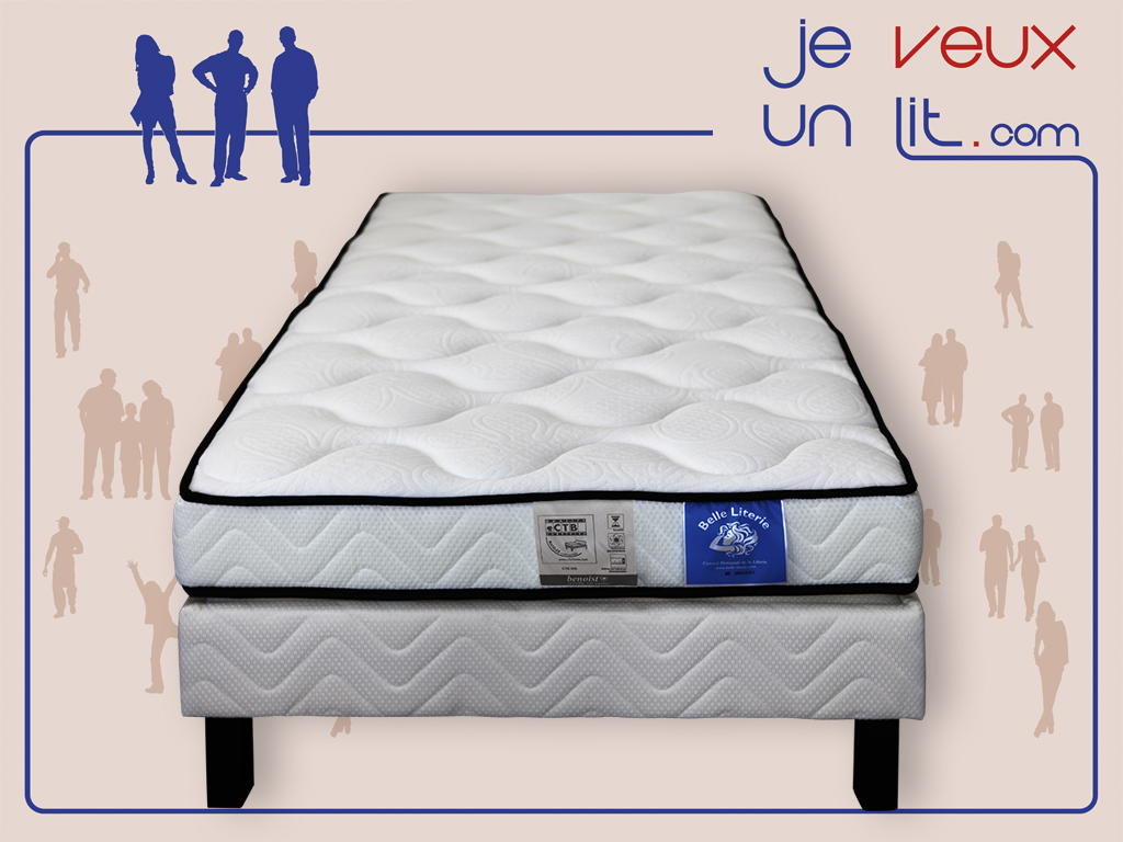 matelas mousse m moire de forme 90x190 belle literie. Black Bedroom Furniture Sets. Home Design Ideas