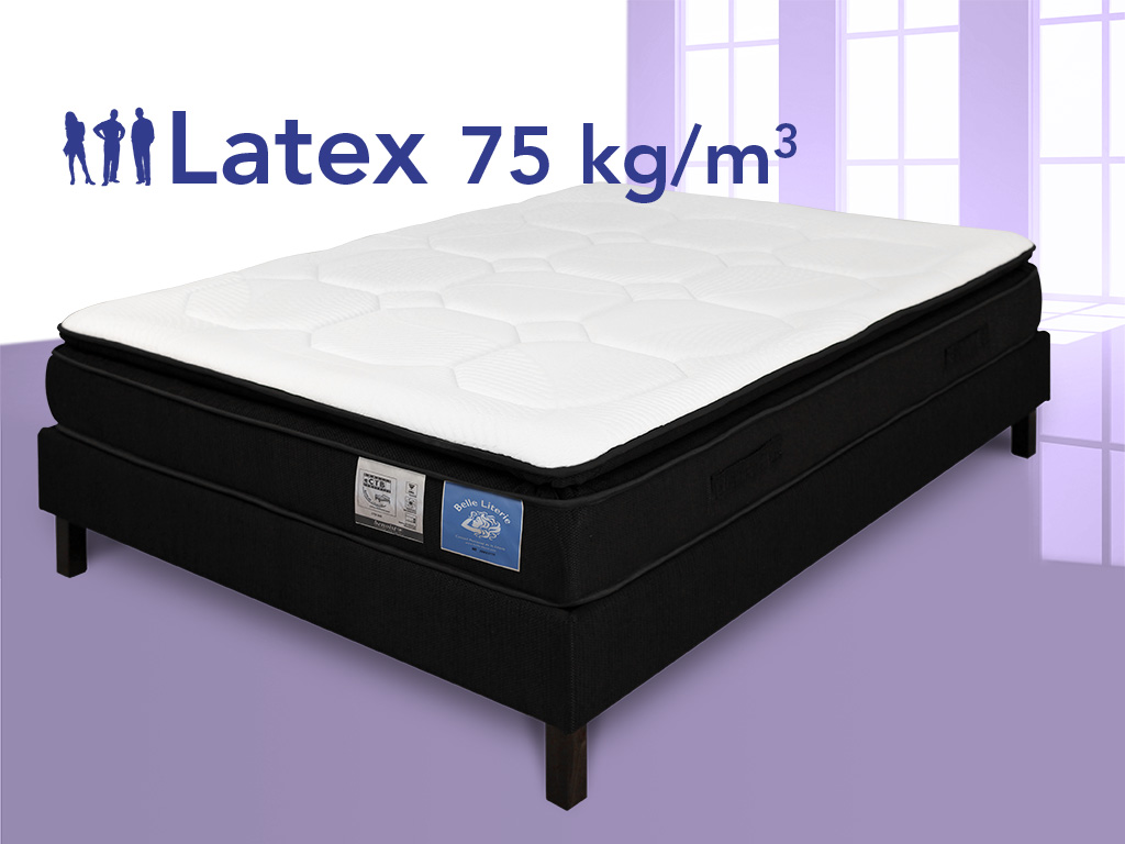 matelas latex 100 naturel 90x190 avec sur matelas. Black Bedroom Furniture Sets. Home Design Ideas