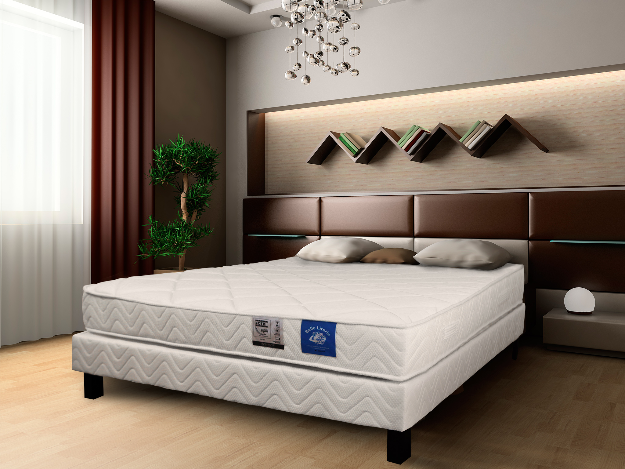 matelas latex 90x190 avec garnissage m moire de forme belle literie. Black Bedroom Furniture Sets. Home Design Ideas